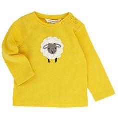 Buy John Lewis Layette Crochet Sheep Long Sleeve T-Shirt, Yellow Online at johnlewis.com
