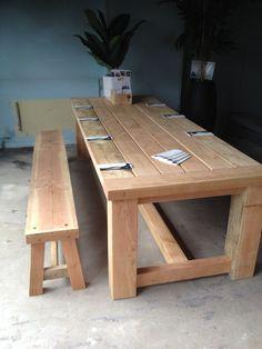 HoutVorm Voermans.Dongen Douglas tafel 4 meter