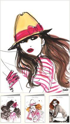 gorgeous fashion illustrations by Izak Zenou