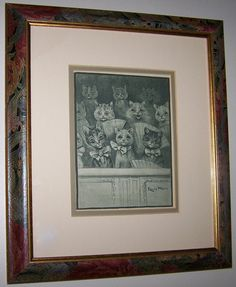 Items similar to Framed Vintage Precious Kitty Cat Print Louis WAIN C. on Etsy Beautiful Wall, Objects, Wall Decor, Kitty, Make It Yourself, Art Prints, Unique Jewelry, Handmade Gifts, Cats