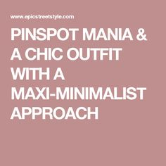 An easy minimal outfit that gives you comfort and confidence as you go about your day. It's chic but lets you do the shining. Minimal Outfit, Chic Outfits, Minimalist, Hacks, Fashion Tips, Style, Fashion Hacks, Swag, Fashion Advice