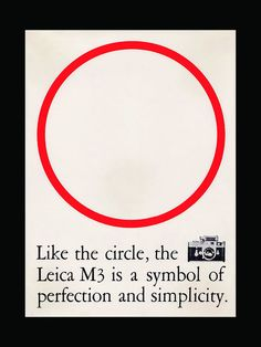 Advertisement for Leica, 1960 by ryangerald, via Flickr