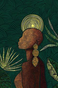 Black Girl Art, Black Women Art, Art Girl, Black Art Painting, Black Artwork, Brown Canvas Art, Brown Art, Africa Art, African American Art