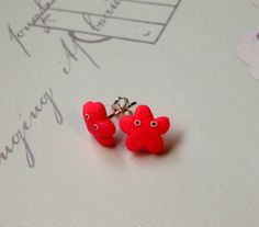 Pink Starfish Earrings, £5.99