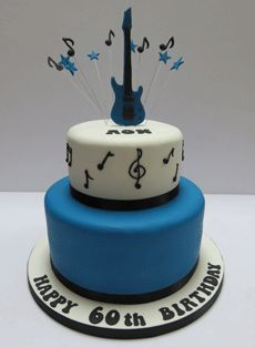 Blue guitar Cake Guitar cake Guitars and Cake