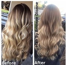 icy blonde to soft blonde ombré.