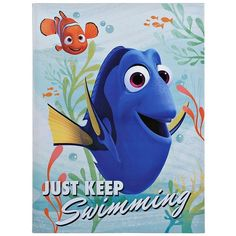 Finding Dory Canvas Art Print (8.150 CRC) ❤ liked on Polyvore featuring home, home decor, wall art, home wall decor, stretched canvas, canvas home decor and disney wall art