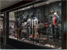 Window Display at J. Crew Men's Shop, Columbus Circle, New York
