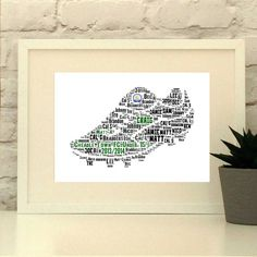 Personalised Football Boot Custom Soccer Boot by Pepper Doodles www.pepperdoodles.co.uk Football decor, Soccer Coach Gift, Football Team, Soccer Team