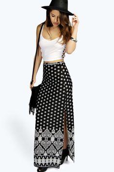 Petite Hollie Paisley Maxi Skirt alternative image