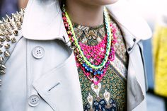 Similar items:  Collar: Jewelry Fashions Bead & Crystal Collar Necklace, $48; nordstrom.com  Fiona Paxton Zoe Collar, $350; pinkmascara.com   - ELLE.com