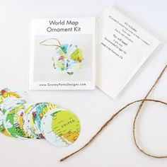 California Map, Step By Step Instructions, All You Need Is, Twine, Kit, Crafty, Ornaments, World, Paper