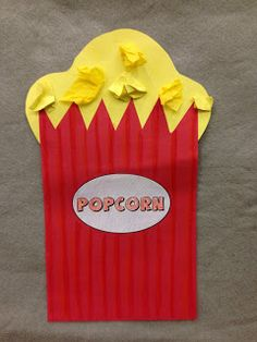 Popcorn craft for Hollywood Week