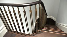 Bespoke Straight Staircase with Brass Balustrade