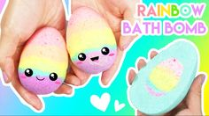 How to Make RAINBOW Filled Easter Egg Bath Bombs!