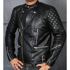 c0310a11f1 Balmain Classic men Black Leather Biker Jacket The-best-Balmain-jacket-and
