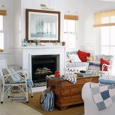 Team with stripes for a nautical theme | Living room | PHOTO GALLERY | Ideal Home | Housetohome.co.uk