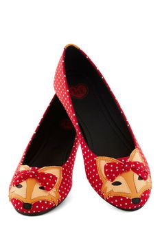 Clever So Sweet Flat - Red, Multi, Polka Dots, Print with Animals, Bows, Kawaii, Flat, Exclusives, Summer, Quirky