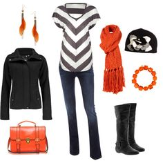 Touch of Tangerine - this is the color of 2012...love this combo!