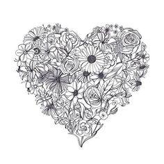 Sélection de coloriages cœurs à imprimer, un loisir créatif à la portée de tous et un joli cadeau pour témoigner son amour en toute simplicité