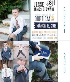 LDS Baptism Invitation Digital File Any Color by BrittanyWinDesign