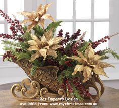 christmas sleigh WITH FLORALS - Recherche Google
