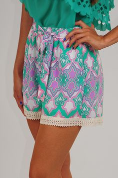 Come With Me Shorts: Multi - Use code THOLLISREP at checkout to save 10% EVERY time you shop at www.shophopes.com! Free shipping in US and Canada. International shipping is available. SHARE THIS CODE WITH YOUR FRIENDS, AND HAPPY SHOPPING:)
