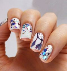 The Best Nail Art Designs – Your Beautiful Nails Nail Art Designs, White Nail Designs, Love Nails, Fun Nails, Pretty Nails, Dream Catcher Nails, Nagellack Design, Tribal Nails, Nagel Gel