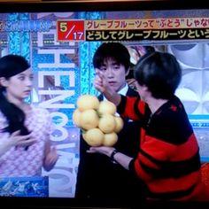 ヤスくんのグレープフルーツの嗅ぎ方が可愛すぎる!!! #安田章大