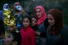"Syrian refugees arrive on the Greek island of Lesbos last month.  Washington Gov. Jay Inslee says his state will welcome refugees from the war-torn region and cautioned his fellow governors not to give in to ""fear,"" ""hate"" and ""divisiveness."" ""I think our nation is tested from time to time, and I think"