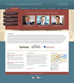 Law Firm Website Design Layouts - The Modern Firm