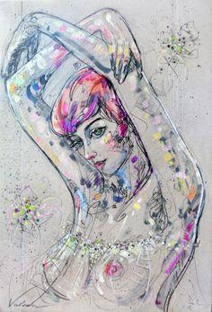 ISABEL 1 (Peinture),  54x81 cm par Raluca Vulcan