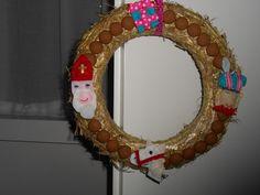 Sinterklaaskrans met vilt en pepernoten