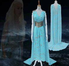 Vestido de Luxo Game Of Thrones Daenerys Targaryen Tamanhos S a 3XL