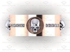 Luna de Saturno Mens Diamond White or Rose by SapphireDesignStudio