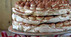 Ten tort to petarda. Więcej nie będę pisać. Koniecznie musicie spróbować.     Składniki na 1 blat bezowy:   2 białka (ok. 75 g), w temp... Torte Cake, Pavlova, Meringue, Tiramisu, Pin Up, Cooking, Ethnic Recipes, Food, Mascarpone