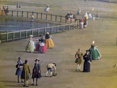 Detail from The Old Horse Guards from St James's Park by Canaletto, 1749.