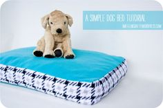 Simple Dog Bed Tutorial - Must make!! Super easy.
