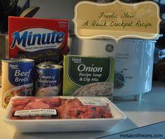 Frantic Stew: A Quick Crockpot Recipe