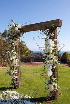 Wedding alter, archway, door