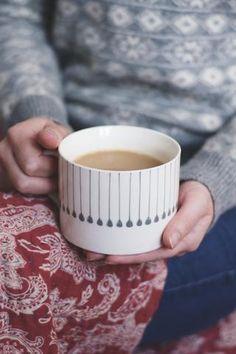 Grey line mug - Deco