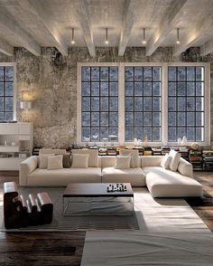 Minimalist Interior Living Room Loft minimalist home exterior floor plans.Minimalist Home Interior Desk Areas. Home Interior, Interior Architecture, Interior And Exterior, Luxury Interior, Luxury Decor, Contemporary Interior, Interior Livingroom, Loft Interior Design, Interior Ideas