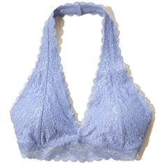 Hollister Gilly Hicks Removable-Pads Lace Halter Bralette ($17) ❤ liked on Polyvore featuring intimates, bras, underwear, purple lace, halter top, halter-neck tops, purple halter top, purple bra and lacy bras