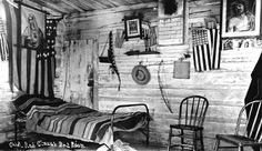 Chief Red Cloud's bedroom at the Pine Ridge Agency, 1891. I love this kind of…