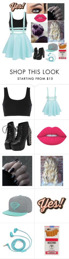 """""""egypt"""" by crazibunniz on Polyvore featuring adidas Originals, Lime Crime, Anya Hindmarch, FOSSIL and Moschino"""
