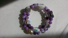 """Purple Dream"" Wickel-Armband - Marmorierter Achat von Menara d'oro auf DaWanda.com"