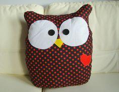 Juguetes - OWL almohada cuddly decorativo - hecho a mano por Ifffka en DaWanda