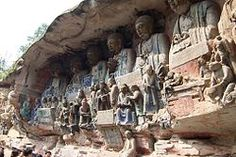 Dazu rock carvings baoding buddhas.JPG