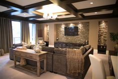 Sectional den decorating ideas | Contemporary Home cozy den Design Ideas, Pictures, Remodel and Decor