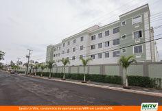 Paisagismo do La Ville. Condomínio fechado de apartamentos localizado em Londrina / PR